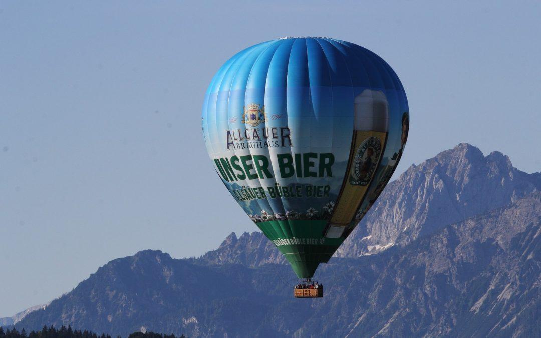 Ballonfahrt übers Allgäuer Seenland