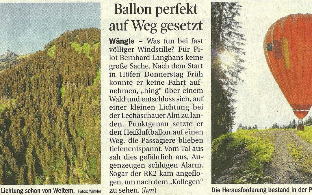 Mit dem Ballon Aggenstein und dem Tannheimer-Wanderstab auf den Berg